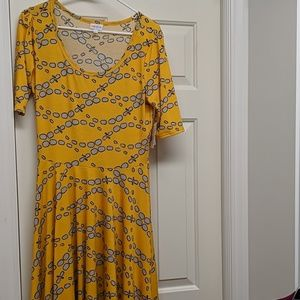 NEW Yellow LuLaRoe Nicole Dress